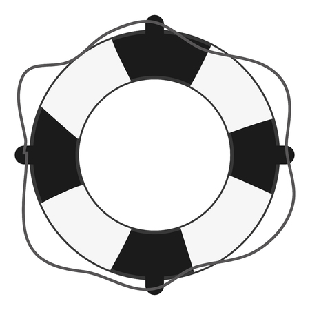 flat design life preserver icon vector illustration Illustration