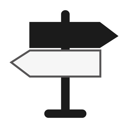 opposed: flat design street name sign icon vector illustration Illustration