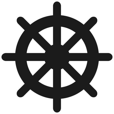 ruder: flaches Design Boot Ruder Symbol Vektor-Illustration