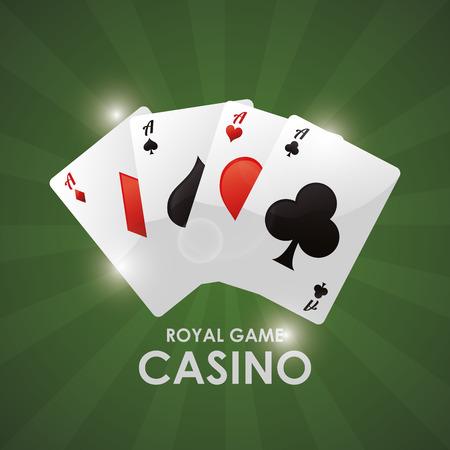 cards casino las vegas game icon. Colorfull illustration. Vector graphic