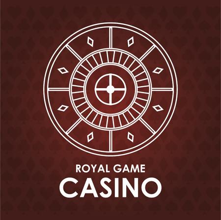 ruleta casino: roulette casino las vegas game icon. Colorfull illustration. Vector graphic