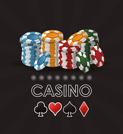 chips casino las vegas game icon. Colorfull illustration. Vector graphic Stock Photo