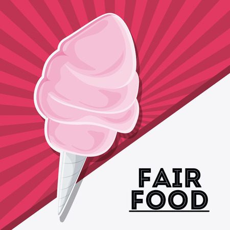 cotton candy fair food snack carnival festival icon. Colorfull illustration. Vector graphic