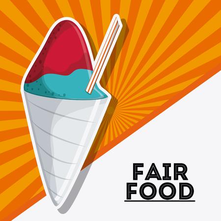 ice cream fair food snack carnival festival icon. Colorfull illustration. Vector graphic