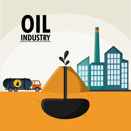 earth explossion truck oil industry production petroleum icon, Vector illustration Illustration