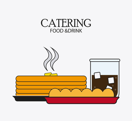 catering service: pancakes soda bread catering service menu food icon, Vector illustration Illustration