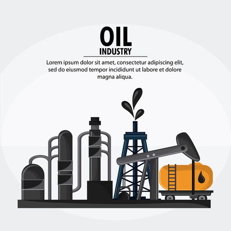 polluting: container drop oil pump industry production petroleum icon, Vector illustration