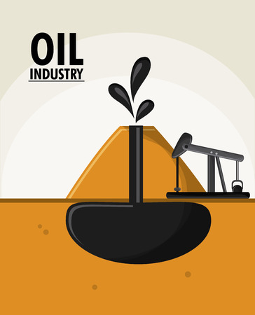 petrochemical plant: earth oil pump industry production petroleum icon, vector illustration