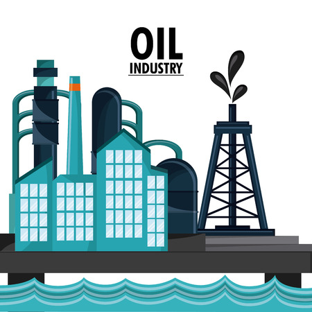 sea oil industry production petroleum icon, vector illustration