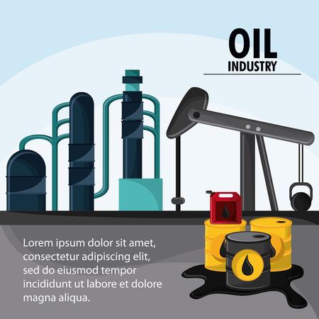 barrel drop oil pump industry production petroleum icon, vector illustration