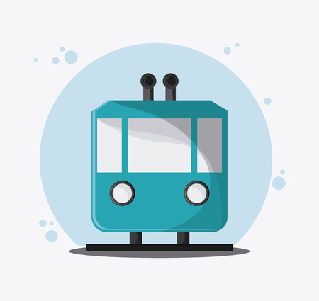 Trolley transportation vehicle travel. Colorfull and flat , vector