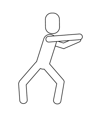 flat design man pictogram dancing icon vector illustration