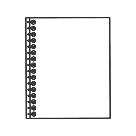 wired: flat design wired notebook icon vector illustration Illustration
