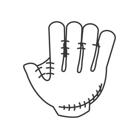 cowhide: flat design baseball glove icon vector illustration Illustration