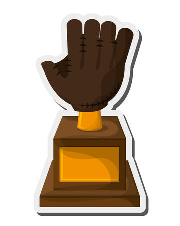 flat design baseball trophy icon vector illustration Illustration