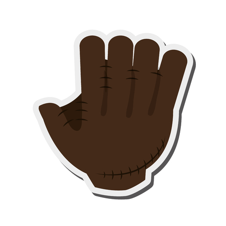flat design baseball glove icon vector illustration  イラスト・ベクター素材
