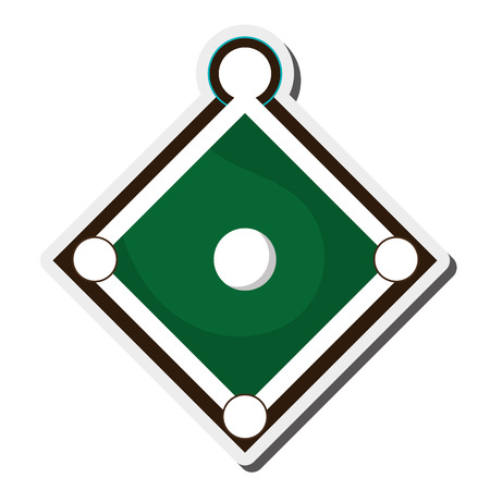 outfield: flat design baseball field icon vector illustration