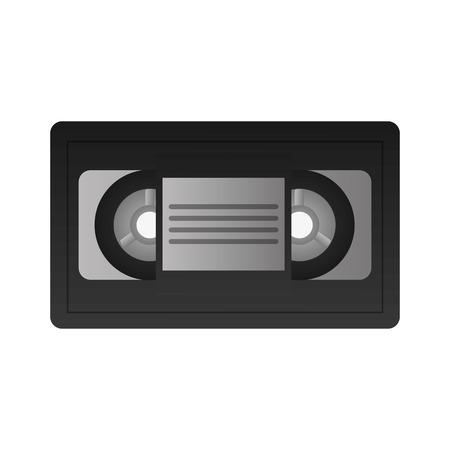 videocassette: flat design single videocassette icon vector illustration
