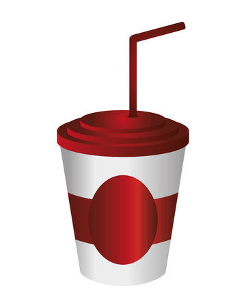 aerated: flat design soft drink disposable cup icon vector illustration Illustration