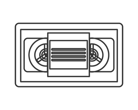 videocassette: diseño plano sola cinta de vídeo icono de la ilustración del vector