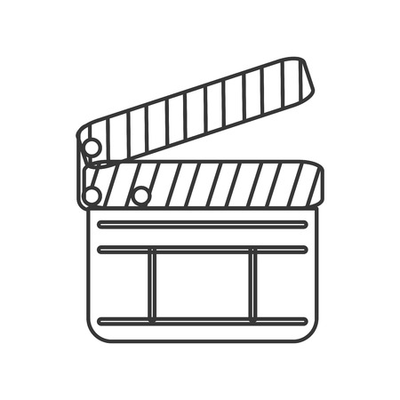 clapperboard: flat design single clapperboard icon vector illustration Illustration