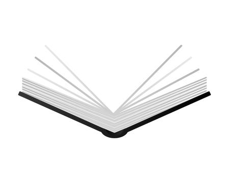 Plat ontwerp open boek icoon vector illustratie