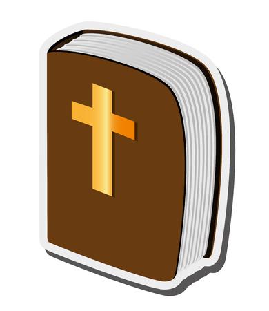 vangelo aperto: flat design holy bible icon vector illustration