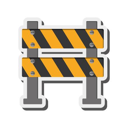 alert ribbon: flat design under construction road sign icon vector illustration