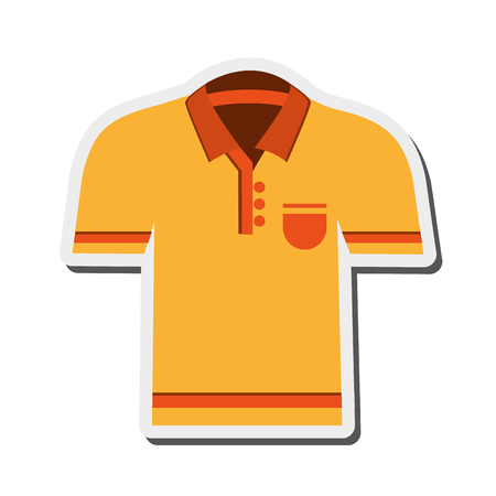 teenagers only: flat design polo shirt icon vector illustration