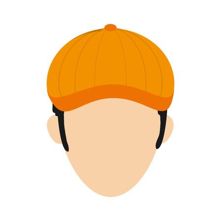 golf player: flat design golf player icon vector illustration