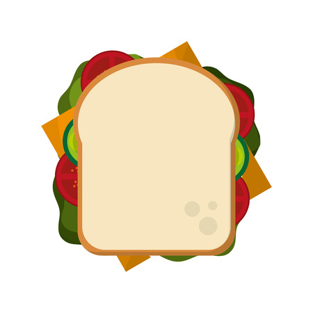 peppar: flat design whole sandwich icon vector illustration