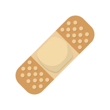 adhesive bandage: flat design adhesive bandage icon vector illustration