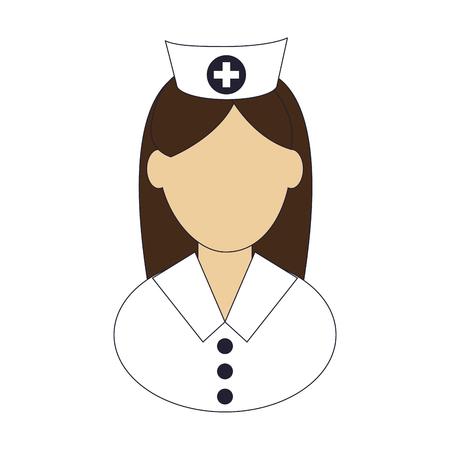 intensive care: flat design female nurse icon vector illustration Illustration