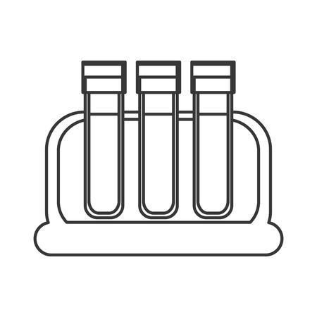 donor blood type: flat design test tube icon vector illustration Illustration