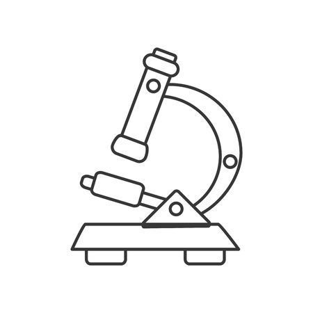 flat design detailed microscope icon vector illustration
