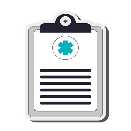 medical clipboard: flat design medical clipboard icon vector illustration