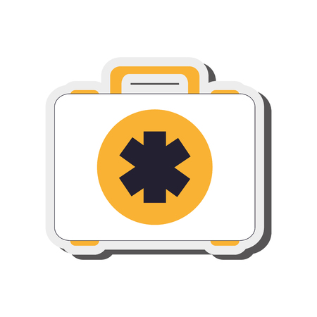 simple flat design first aid kit icon vector illustration Illustration