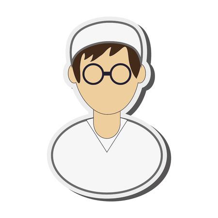 medics: flat design medic or doctor icon vector illustration