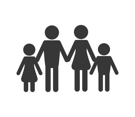 elementary age: flat design family pictogram icon vector illustration