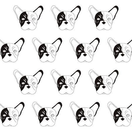 bullmastiff: flat design french bulldog pattern icon vector illustration