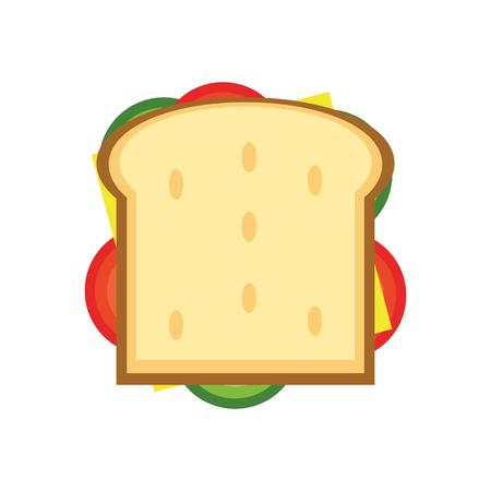 flat design sandwich with olive icon vector illustration Illustration