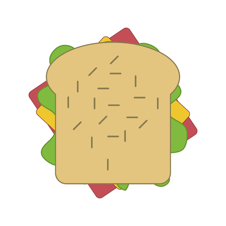 peppar: flat design sandwich with olive icon vector illustration Illustration
