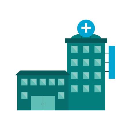 tree works: flat design hospital building icon vector illustration Illustration