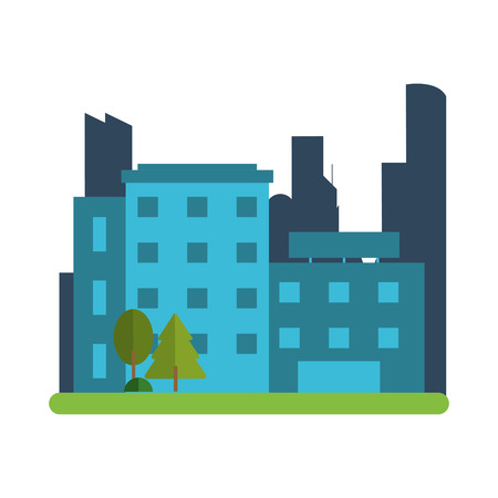 city building: flat design city building icon vector illustration