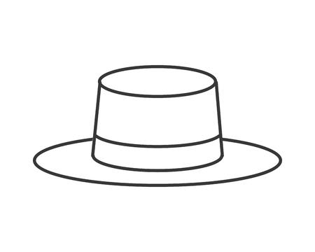 flat design summer hat icon vector illustration Illustration