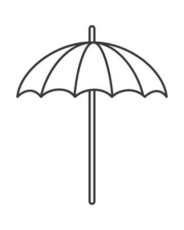 parasol: flat design single parasol icon vector illustration