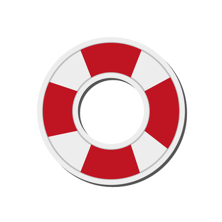 preserver: flat design life preserver icon vector illustration Illustration