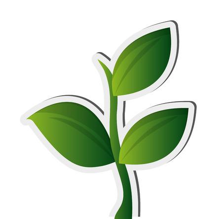 flat design plant sprout icon vector illustration Illustration