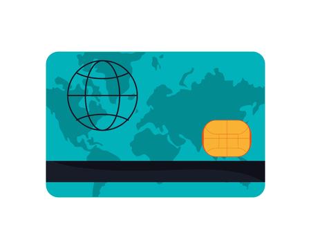 debit: flat design credit or debit card icon vector illustration Illustration