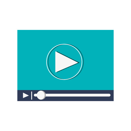 platte ontwerp video speler pictogram vectorillustratie